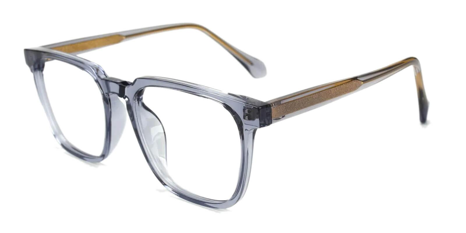 Oriana Gray Acetate Eyeglasses , SpringHinges , UniversalBridgeFit Frames from ABBE Glasses