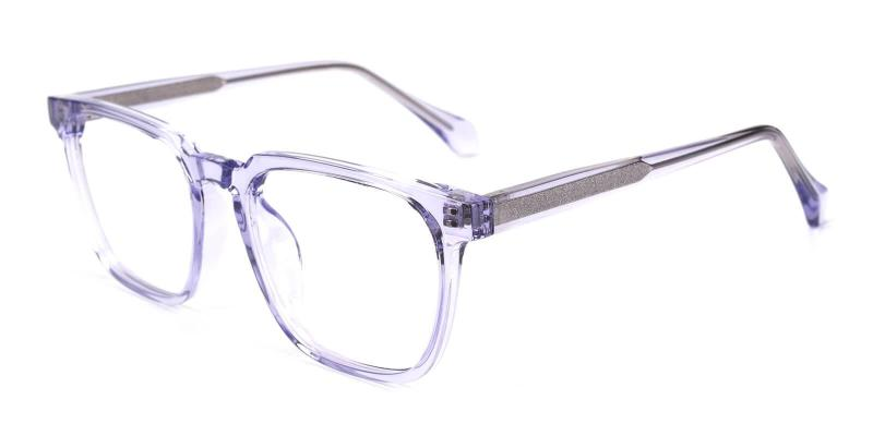 Purple Oriana - Acetate Eyeglasses , SpringHinges , UniversalBridgeFit