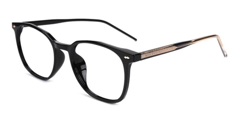 Black Prodigy - Acetate Eyeglasses , SpringHinges , UniversalBridgeFit