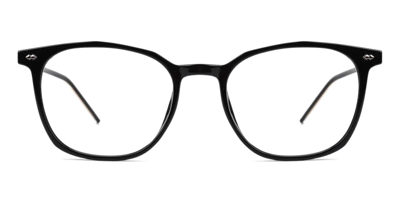 Prodigy Black Acetate Eyeglasses , SpringHinges , UniversalBridgeFit Frames from ABBE Glasses