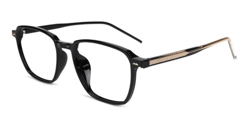 Black Flume - TR Eyeglasses , SpringHinges , UniversalBridgeFit