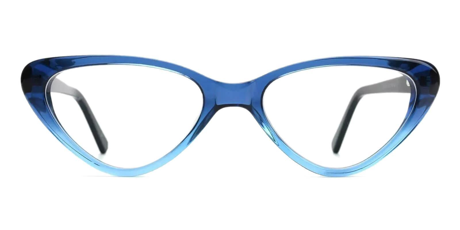Selina Blue Acetate Eyeglasses , SpringHinges , UniversalBridgeFit Frames from ABBE Glasses