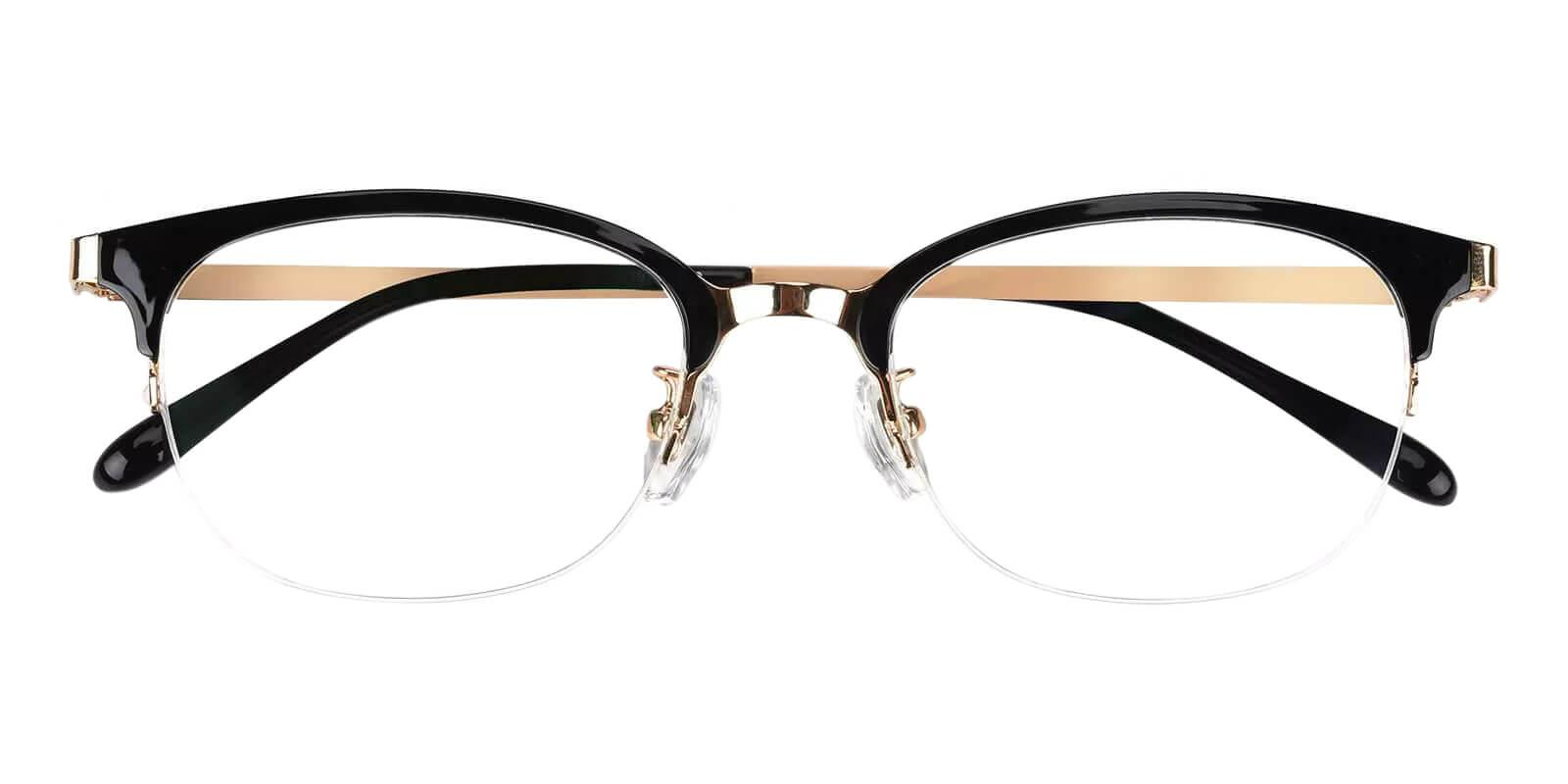 Polly Black Combination Eyeglasses , Fashion , NosePads Frames from ABBE Glasses