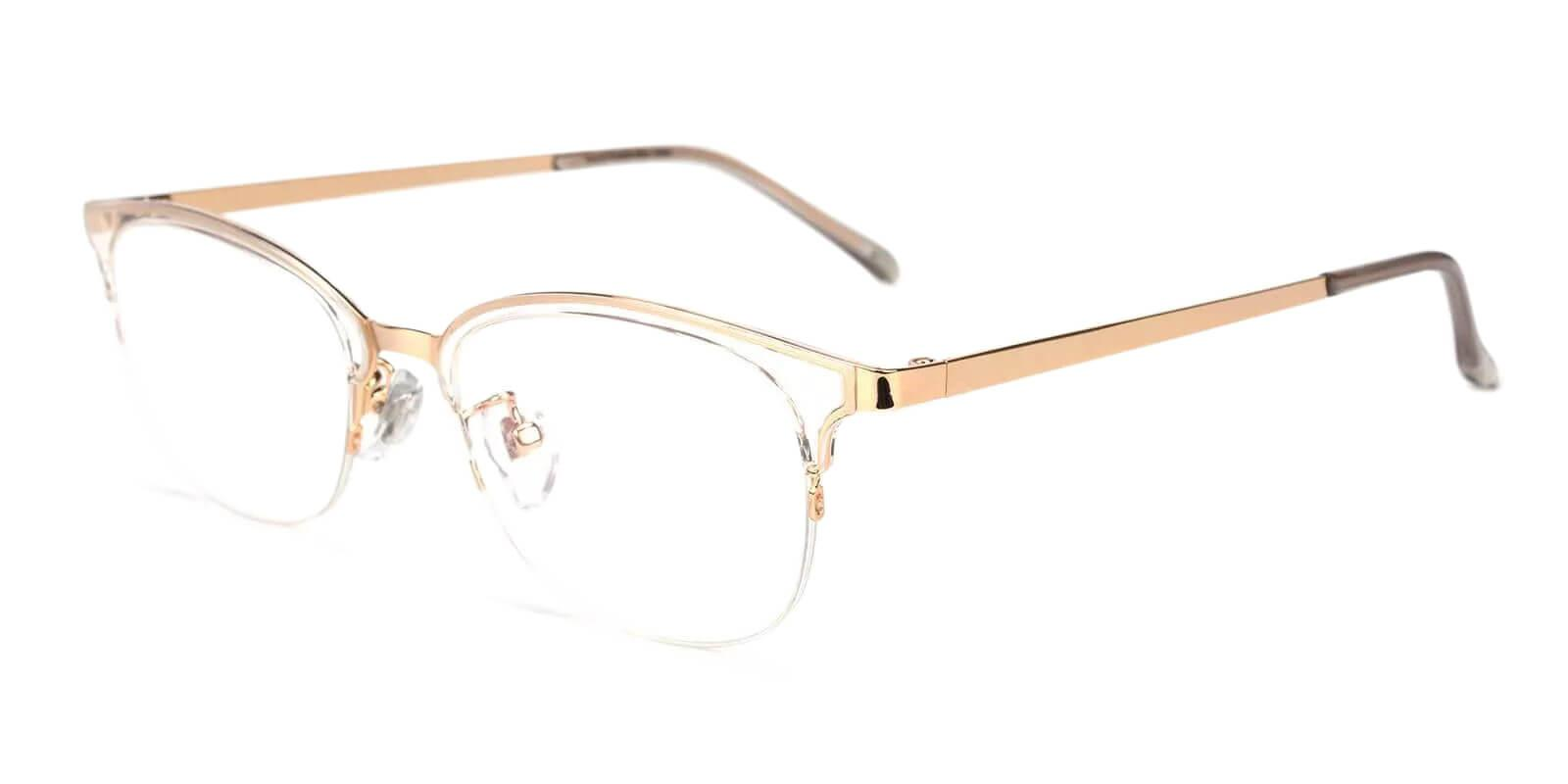 Polly Translucent Combination Eyeglasses , Fashion , NosePads Frames from ABBE Glasses