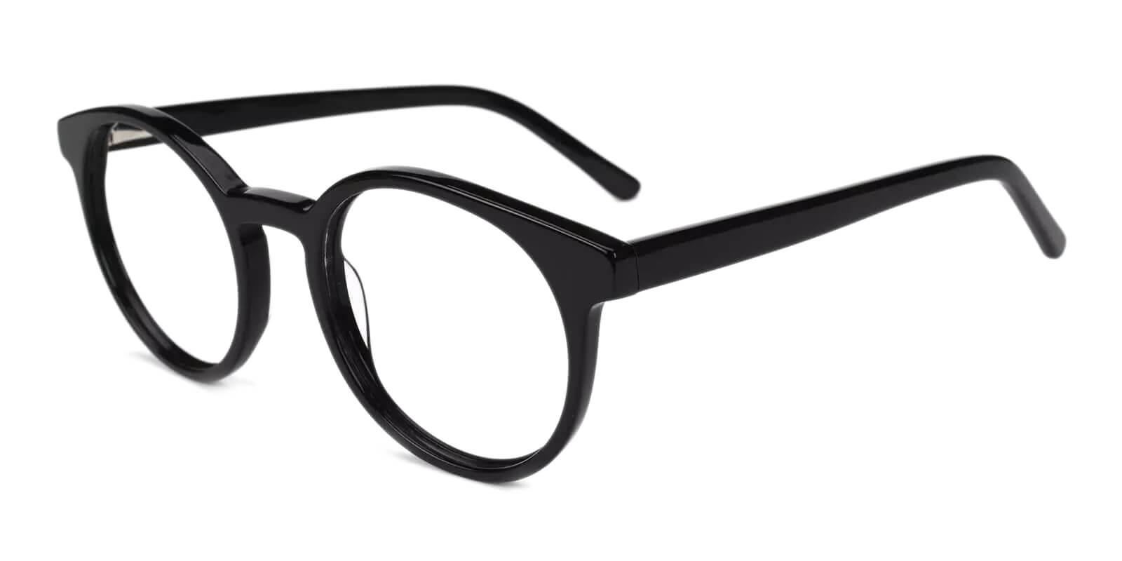 Ottawa Black Acetate Eyeglasses , Fashion , UniversalBridgeFit Frames from ABBE Glasses