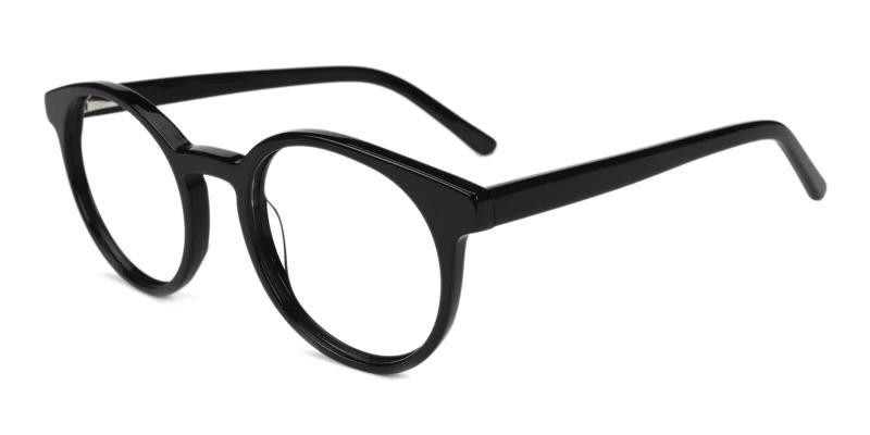 Black Ottawa - Acetate Eyeglasses , Fashion , UniversalBridgeFit