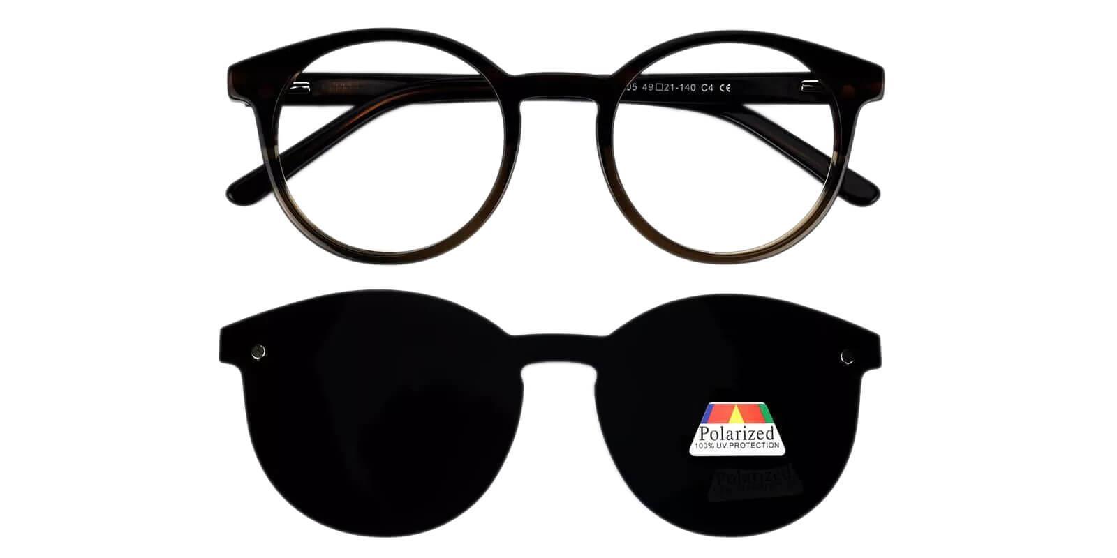 Ottawa Brown Acetate Eyeglasses , Fashion , UniversalBridgeFit Frames from ABBE Glasses