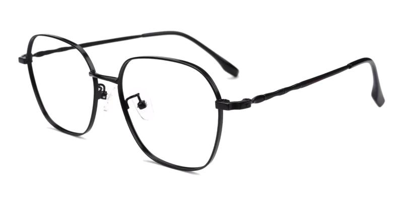 Black Ruff - Metal Eyeglasses , Fashion , NosePads