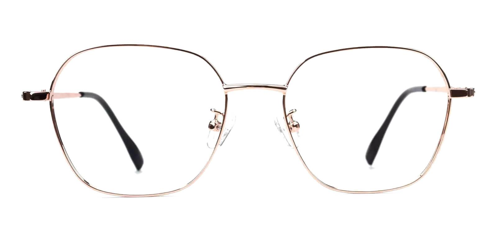 Ruff Gold Metal Eyeglasses , Fashion , NosePads Frames from ABBE Glasses