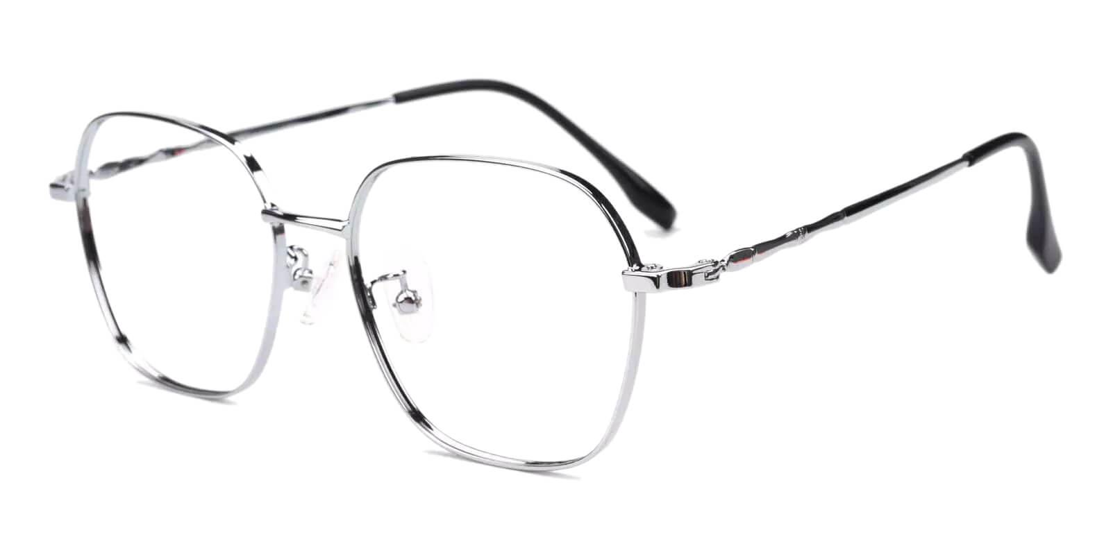 Ruff Silver Metal Eyeglasses , Fashion , NosePads Frames from ABBE Glasses