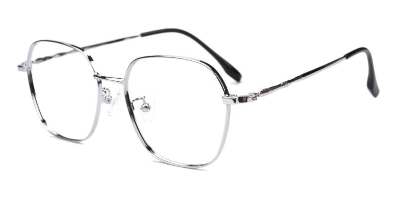 Silver Ruff - Metal Eyeglasses , Fashion , NosePads