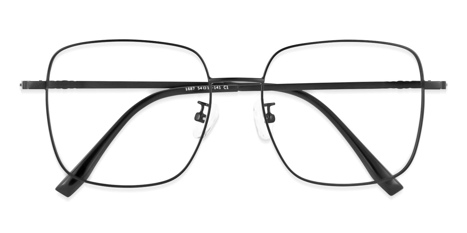 Rolita Black Metal Eyeglasses , Fashion , NosePads Frames from ABBE Glasses