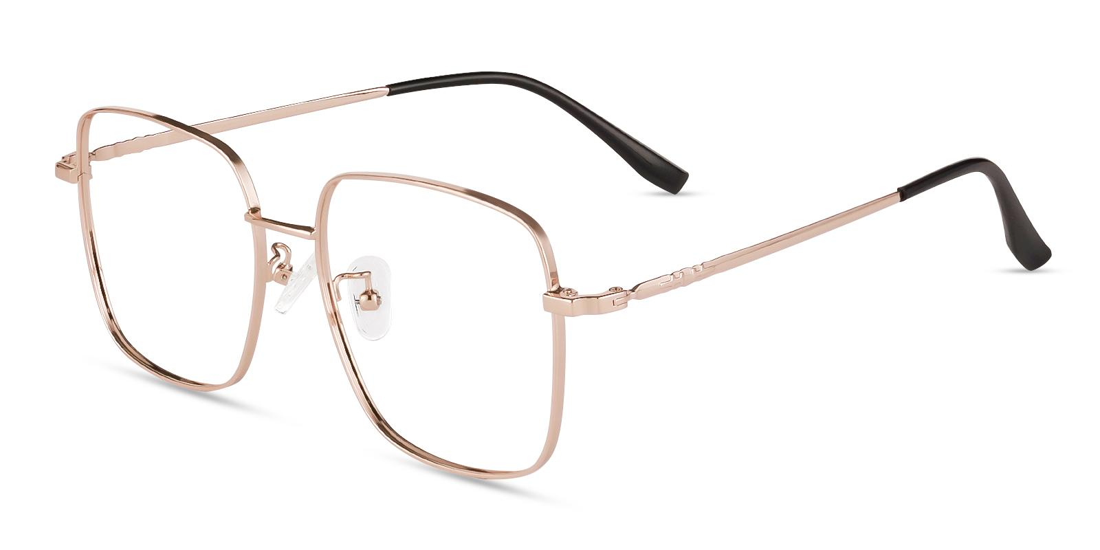 Rolita Gold Metal Eyeglasses , Fashion , NosePads Frames from ABBE Glasses