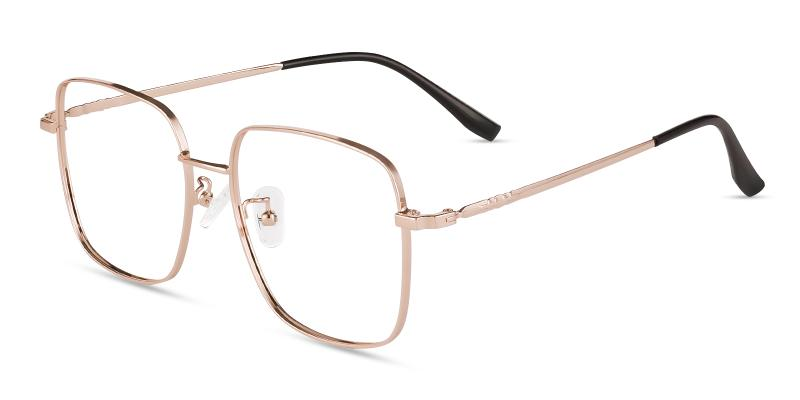 Gold Rolita - Metal Eyeglasses , Fashion , NosePads
