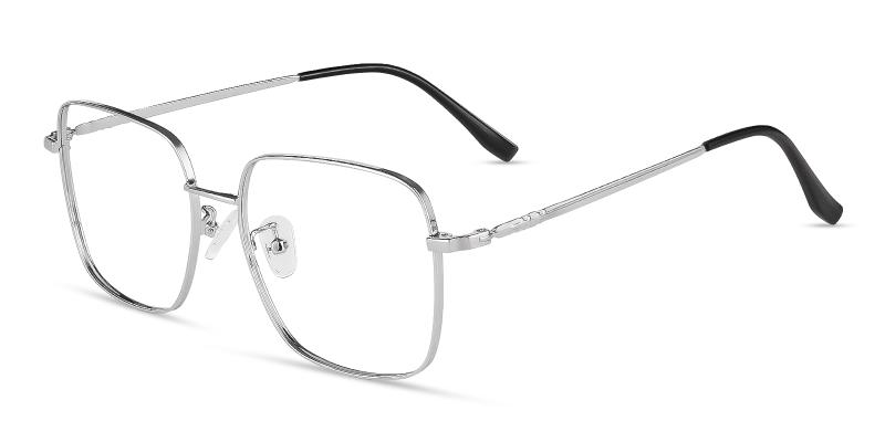 Silver Rolita - Metal Eyeglasses , Fashion , NosePads