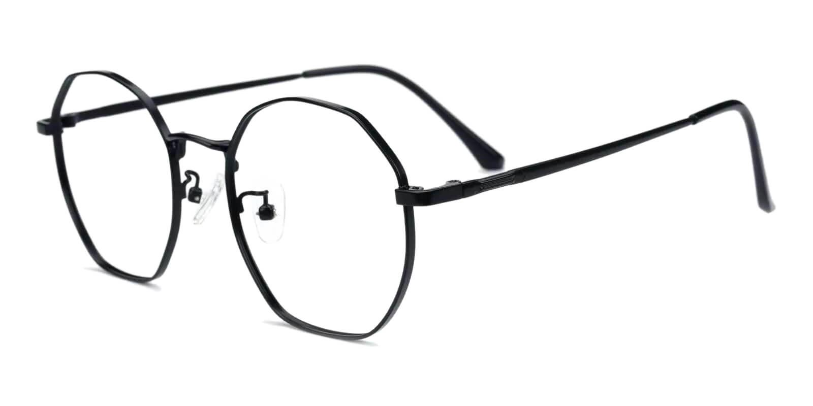 Jadeite Black Metal Eyeglasses , Fashion , NosePads Frames from ABBE Glasses