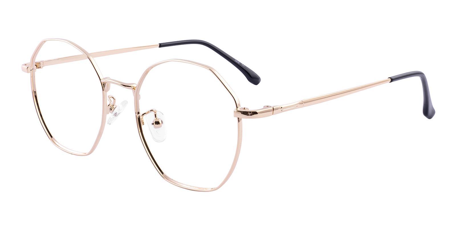 Jadeite Gold Metal Eyeglasses , Fashion , NosePads Frames from ABBE Glasses