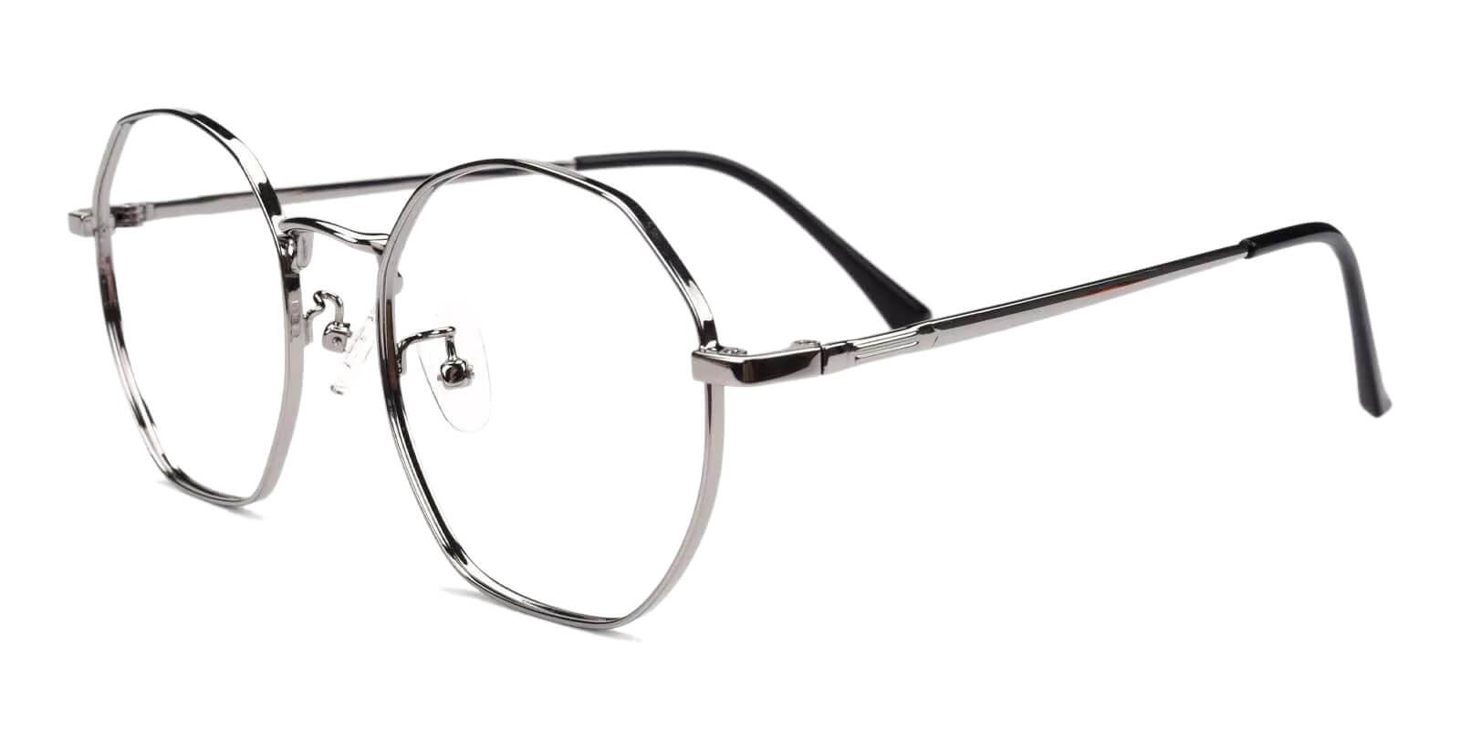 Jadeite Silver Metal Eyeglasses , Fashion , NosePads Frames from ABBE Glasses