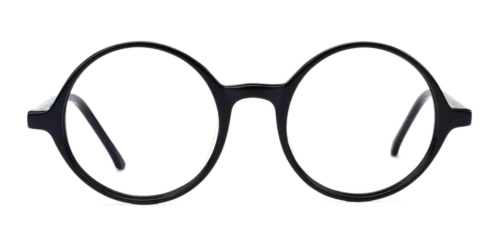Belinda Black Acetate Eyeglasses , Fashion , SpringHinges , UniversalBridgeFit Frames from ABBE Glasses
