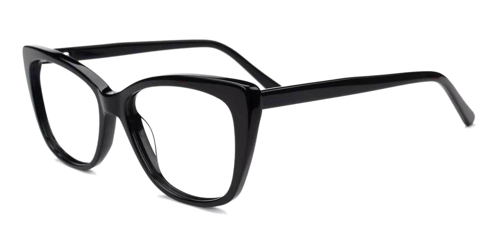 Truda Black Acetate Eyeglasses , Fashion , SpringHinges , UniversalBridgeFit Frames from ABBE Glasses
