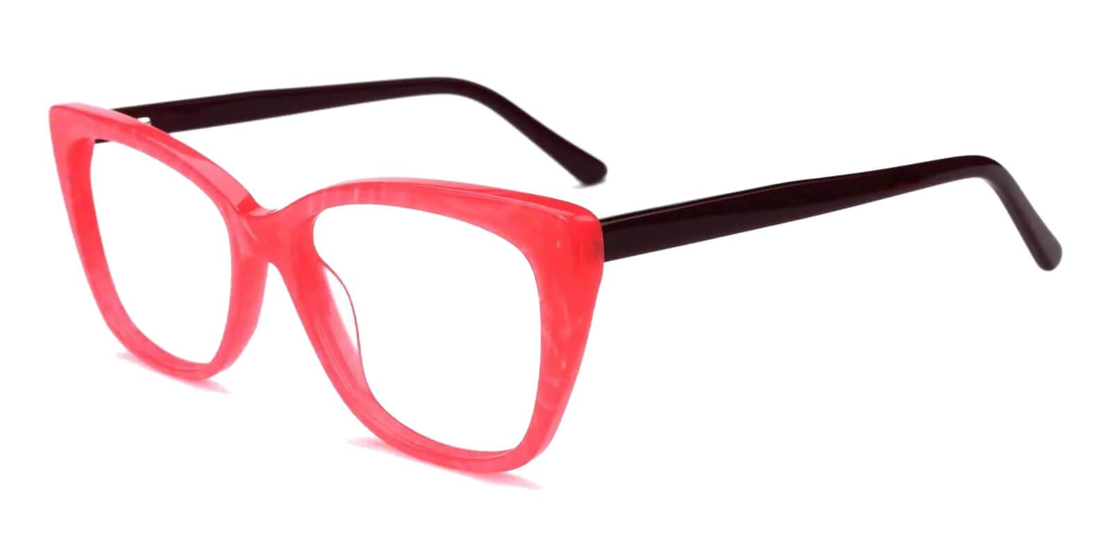 Truda Pink Acetate Eyeglasses , Fashion , SpringHinges , UniversalBridgeFit Frames from ABBE Glasses