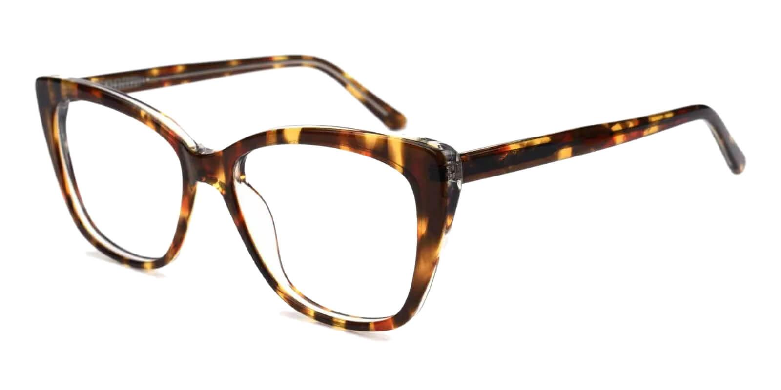 Truda Tortoise Acetate Eyeglasses , Fashion , SpringHinges , UniversalBridgeFit Frames from ABBE Glasses