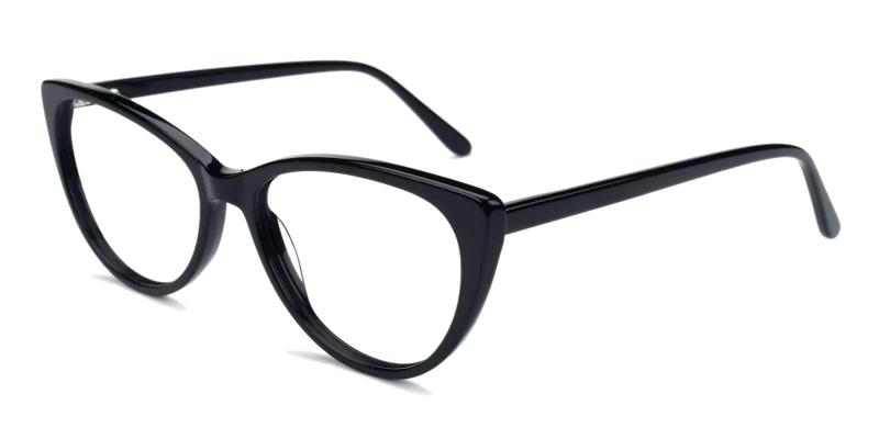 Black Traci - Acetate Eyeglasses , Fashion , SpringHinges , UniversalBridgeFit