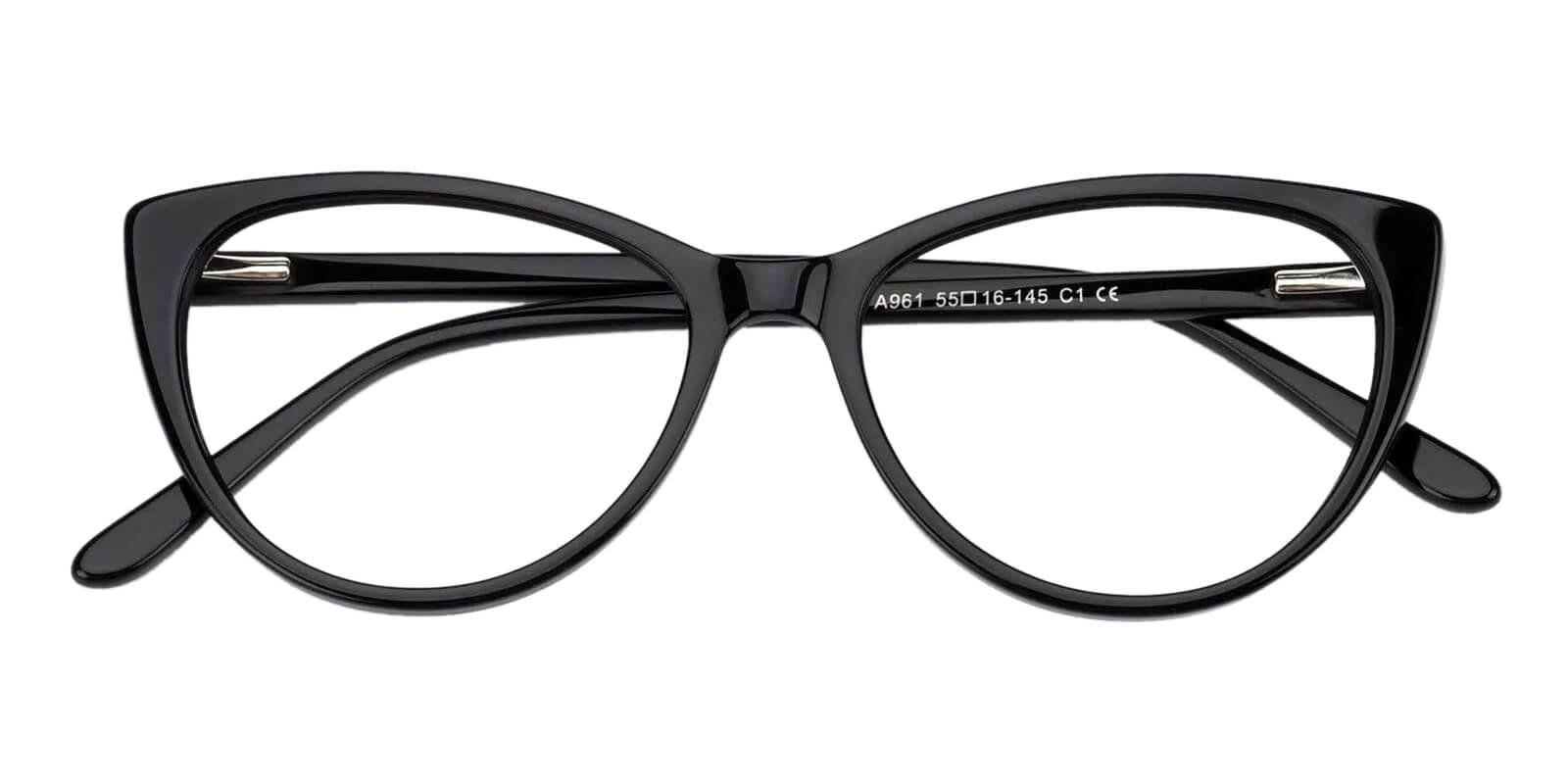 Traci Black Acetate Eyeglasses , Fashion , SpringHinges , UniversalBridgeFit Frames from ABBE Glasses