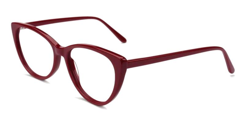 Red Traci - Acetate ,Universal Bridge Fit