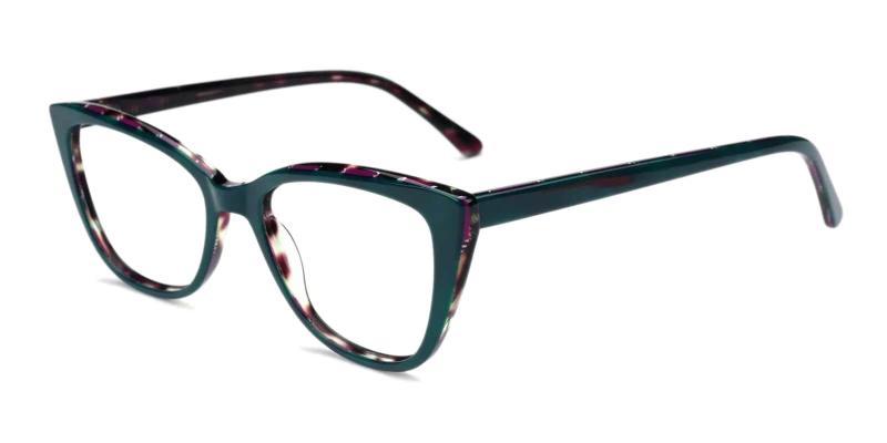 Green Teddy - Acetate Eyeglasses , Fashion , SpringHinges , UniversalBridgeFit