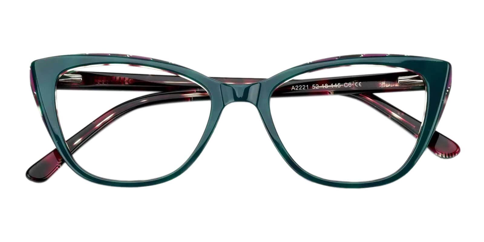 Teddy Green Acetate Eyeglasses , Fashion , SpringHinges , UniversalBridgeFit Frames from ABBE Glasses