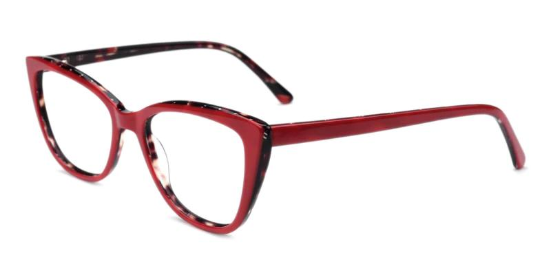 Red Teddy - Acetate Eyeglasses , Fashion , SpringHinges , UniversalBridgeFit