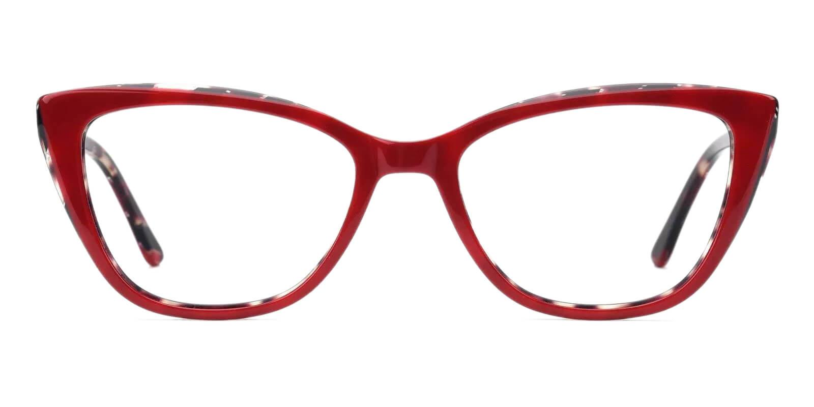 Teddy Red Acetate Eyeglasses , Fashion , SpringHinges , UniversalBridgeFit Frames from ABBE Glasses