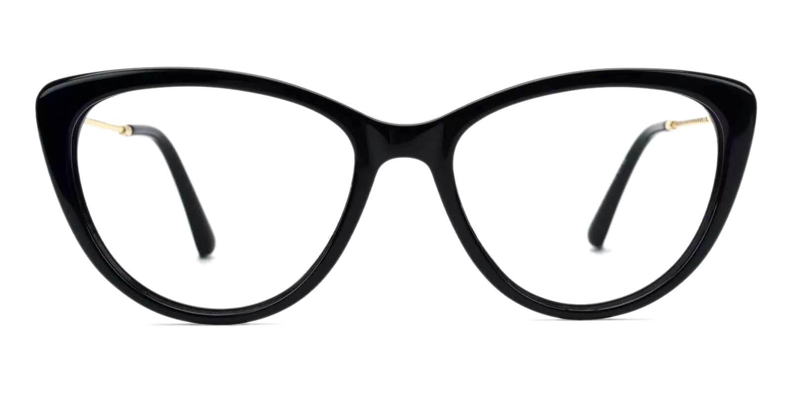 Satin Black Metal , Acetate SpringHinges , Fashion , UniversalBridgeFit , Eyeglasses Frames from ABBE Glasses