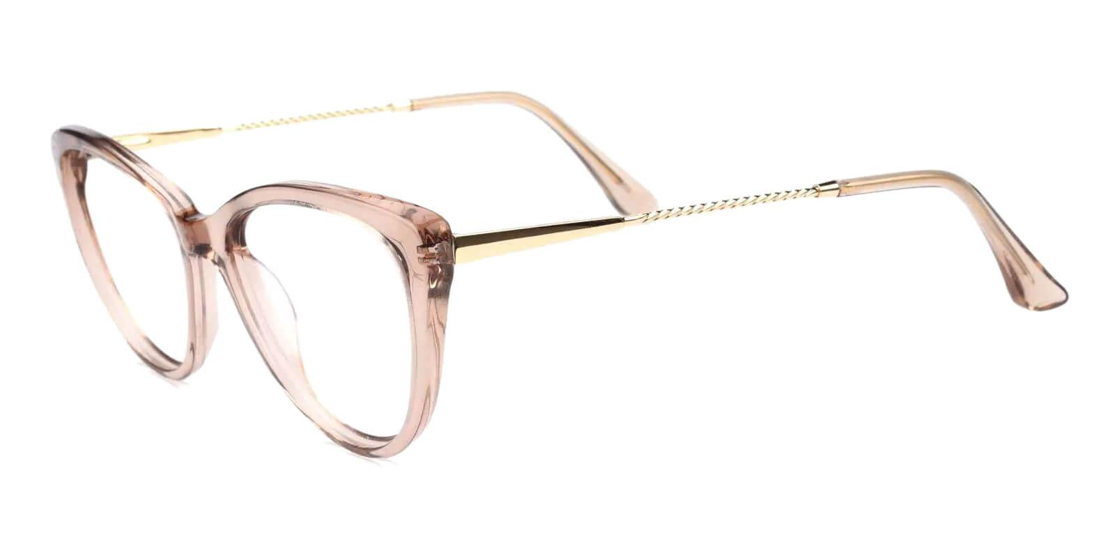 Satin Pink Metal , Acetate SpringHinges , Fashion , UniversalBridgeFit , Eyeglasses Frames from ABBE Glasses