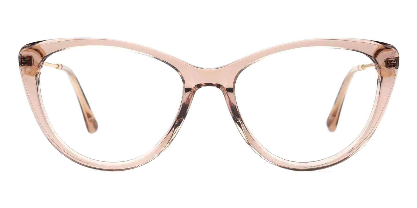 Satin Pink Acetate , Metal Eyeglasses , Fashion , SpringHinges , UniversalBridgeFit Frames from ABBE Glasses