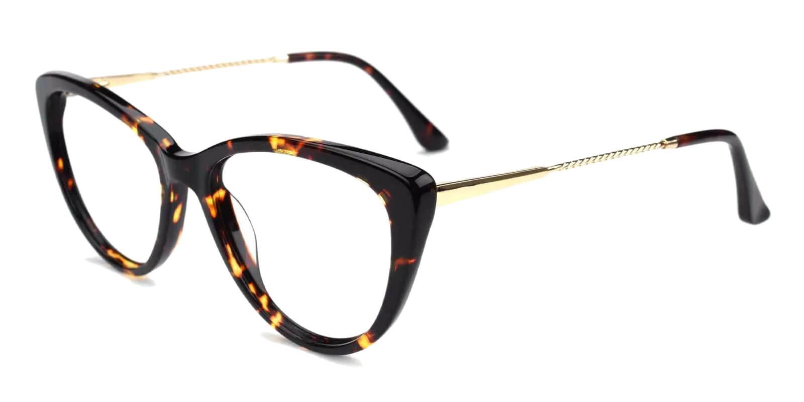Satin Tortoise Acetate , Metal Eyeglasses , Fashion , SpringHinges , UniversalBridgeFit Frames from ABBE Glasses