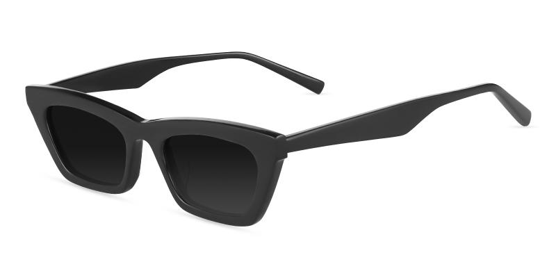 Black KJ - Acetate Fashion , Sunglasses , UniversalBridgeFit