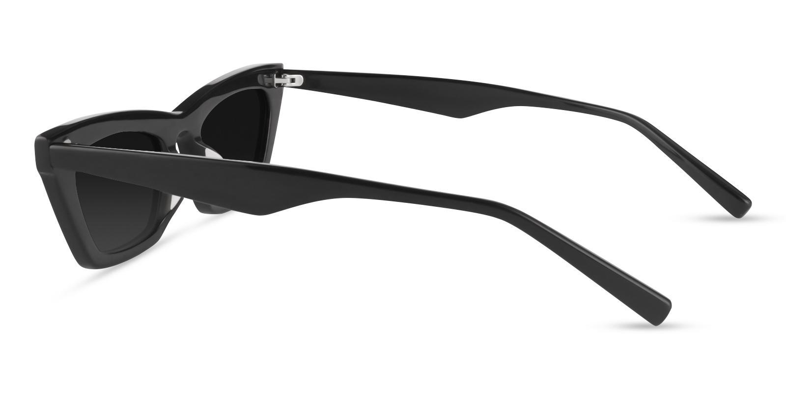 KJ Black Acetate Fashion , Sunglasses , UniversalBridgeFit Frames from ABBE Glasses