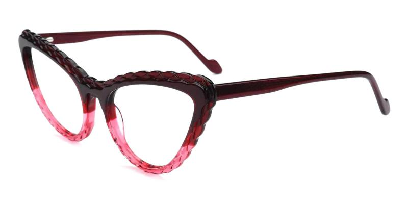 Purple Harmt - Acetate Eyeglasses , Fashion , SpringHinges , UniversalBridgeFit