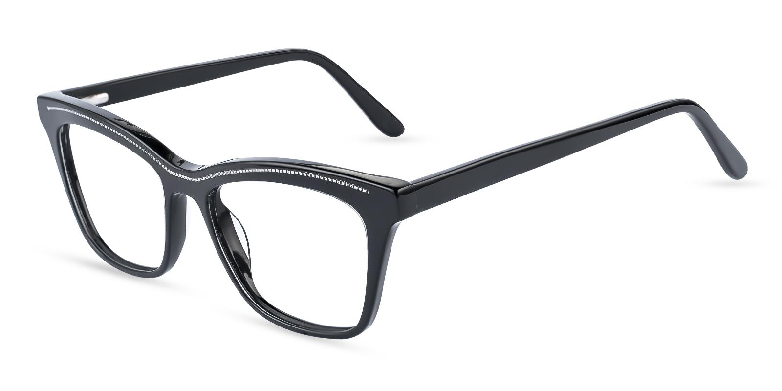 Kate Black Acetate Eyeglasses , Fashion , SpringHinges , UniversalBridgeFit Frames from ABBE Glasses