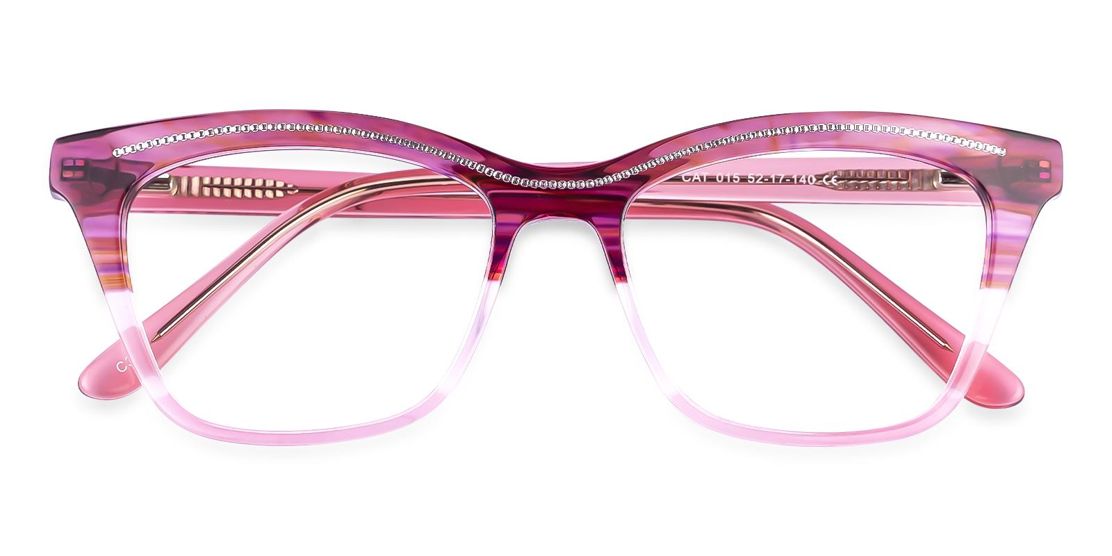 Kate Red Acetate Eyeglasses , Fashion , SpringHinges , UniversalBridgeFit Frames from ABBE Glasses
