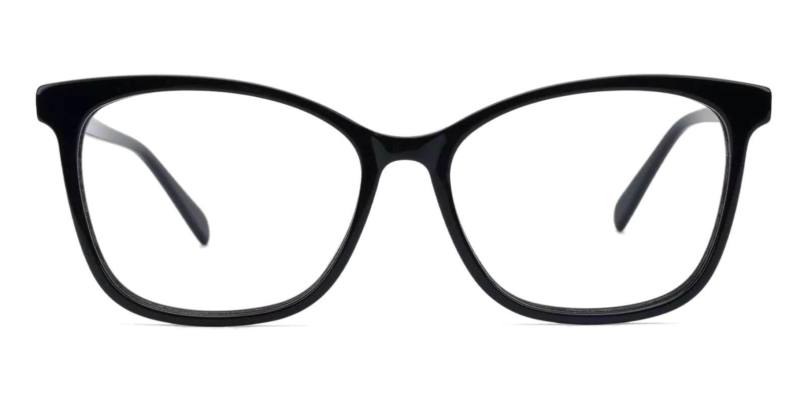 Coliny Black Acetate Eyeglasses , Fashion , SpringHinges , UniversalBridgeFit Frames from ABBE Glasses
