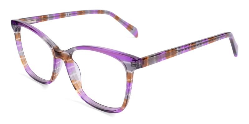 Purple Coliny - Acetate Eyeglasses , Fashion , SpringHinges , UniversalBridgeFit