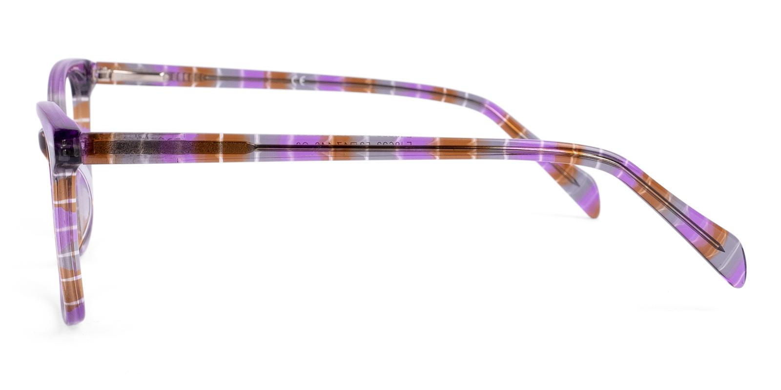 Coliny Purple Acetate Eyeglasses , Fashion , SpringHinges , UniversalBridgeFit Frames from ABBE Glasses
