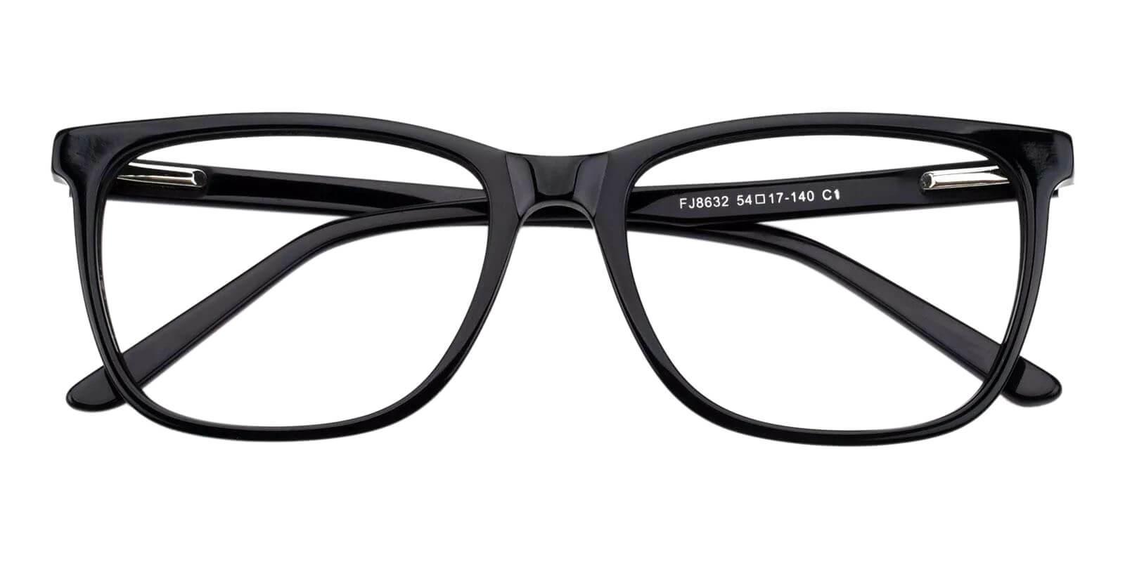 Gulio Black Acetate Eyeglasses , Fashion , SpringHinges , UniversalBridgeFit Frames from ABBE Glasses