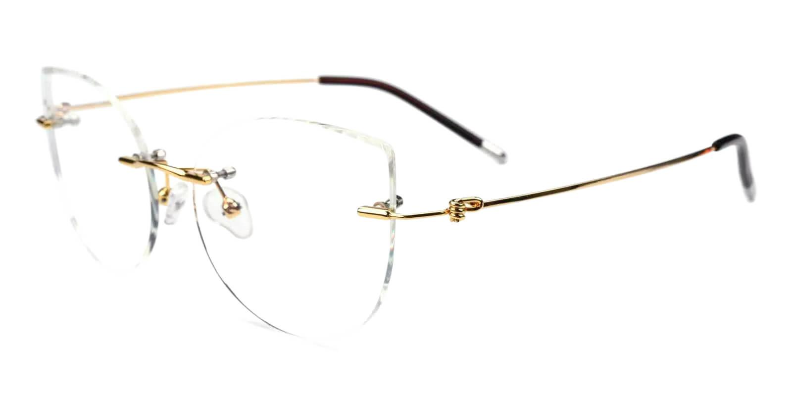Karma Gold Metal Eyeglasses , Fashion , NosePads Frames from ABBE Glasses
