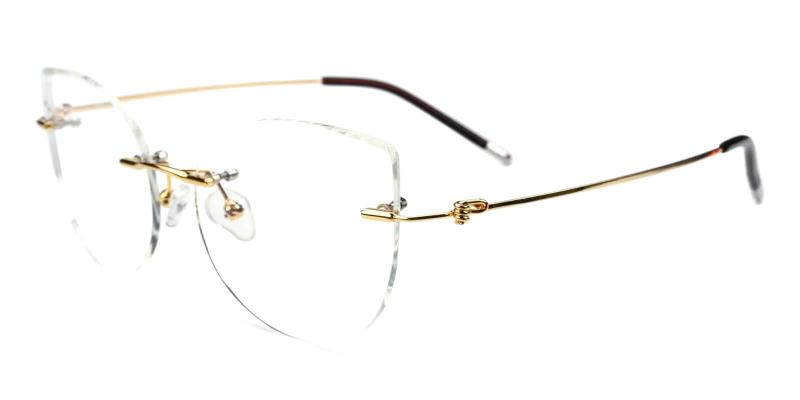 Gold Karma - Metal Eyeglasses , Fashion , NosePads