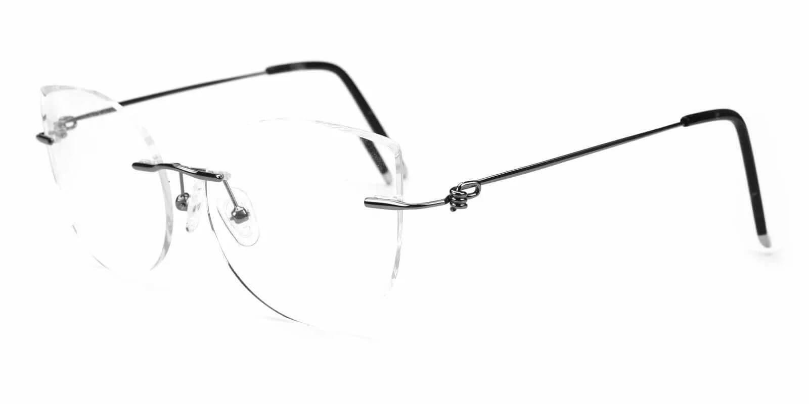 Karma Silver Metal Eyeglasses , Fashion , NosePads Frames from ABBE Glasses