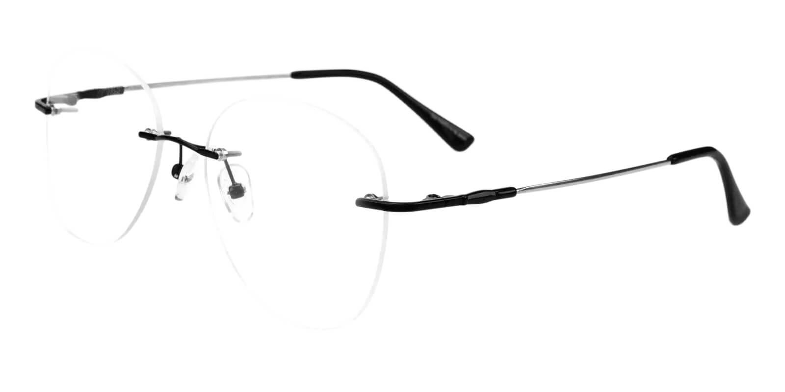 Paul Black Metal Eyeglasses , Fashion , NosePads Frames from ABBE Glasses